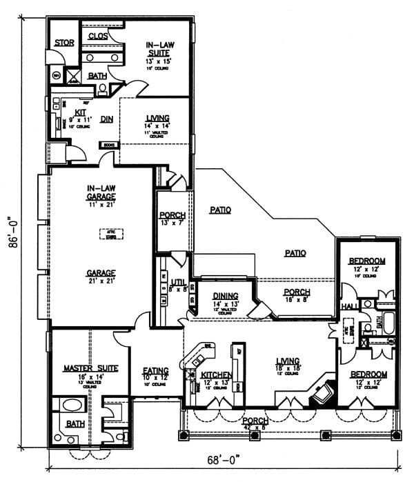 ranch house plans with inlaw apartment best of house plans with mother in law apartment