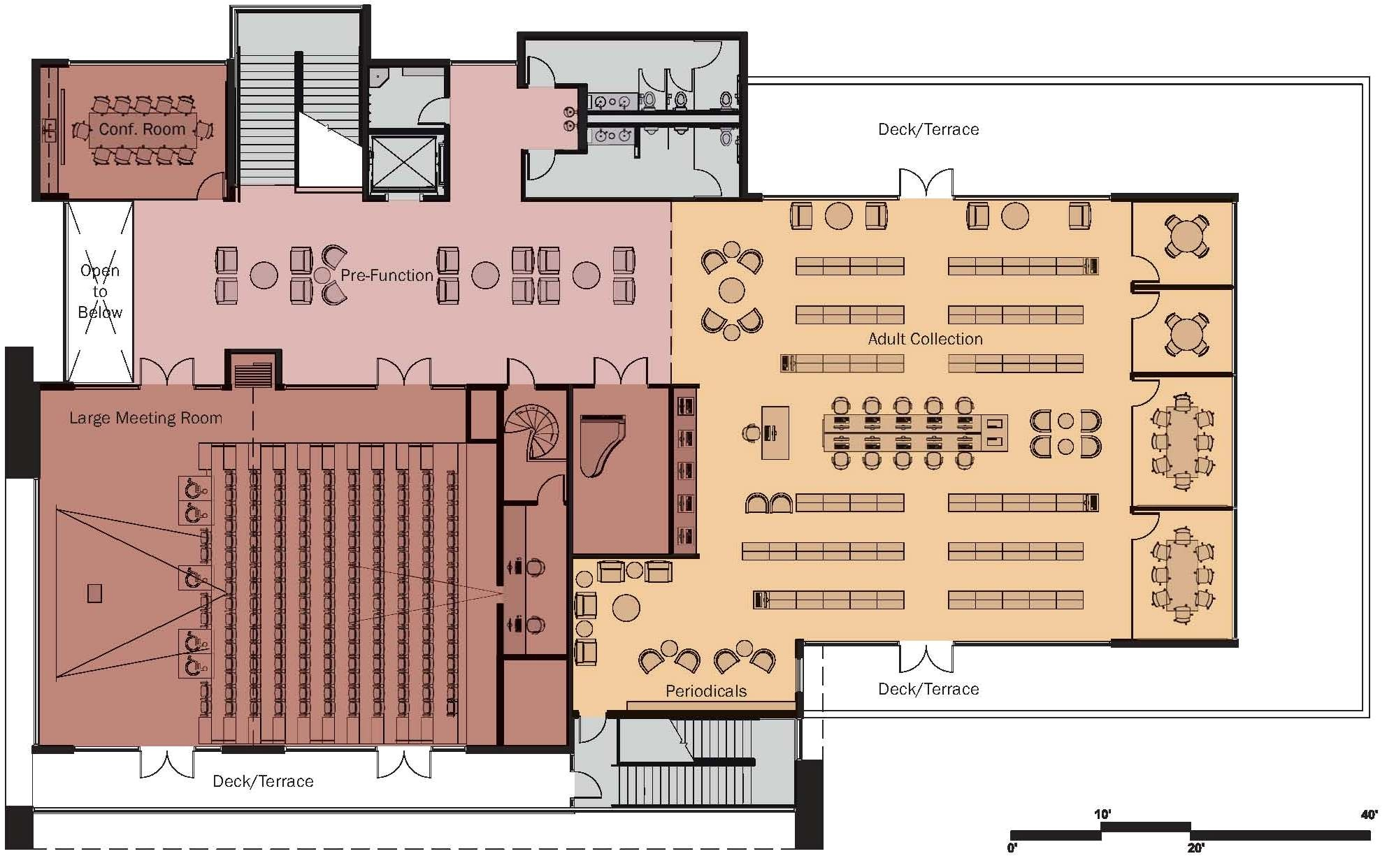 extraordinary floor plans design of marmalade library with terrace