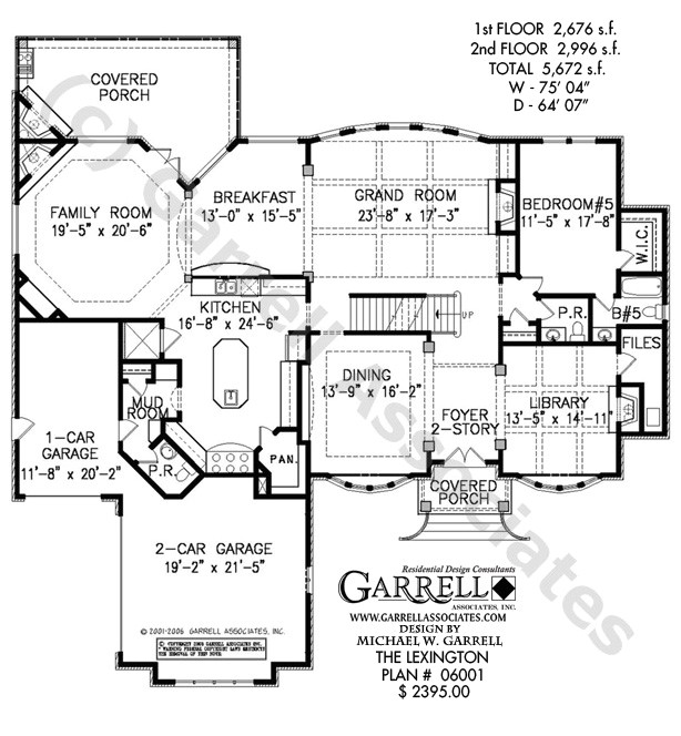 house plans two story library