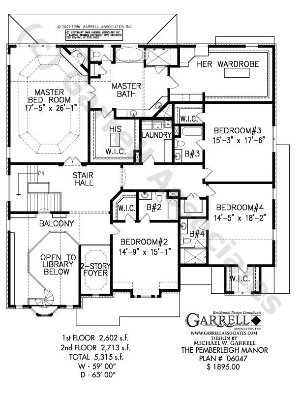 pemberleigh manor house plan