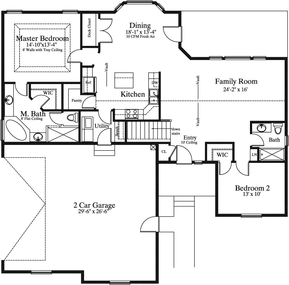 house plans with master on main