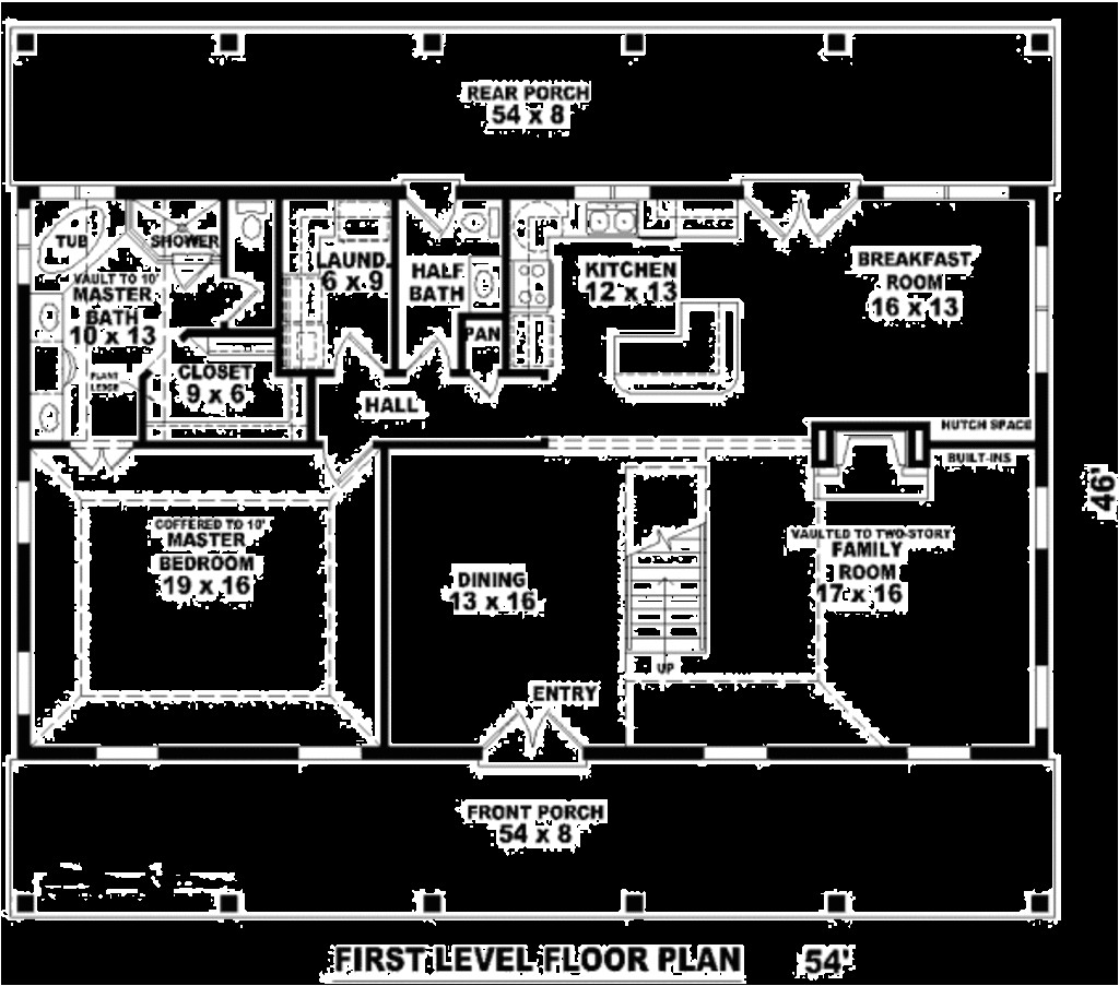 main floor master bedroom house plans