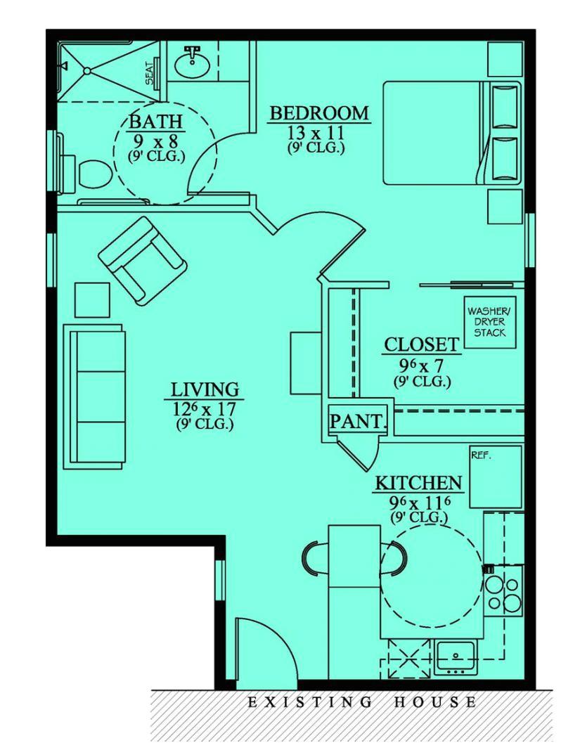 654186 handicap accessible mother in law suite