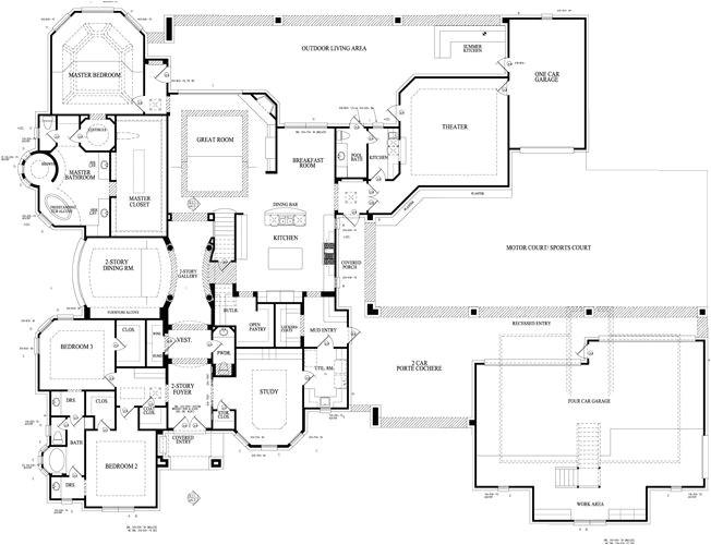 porte cochere house plans
