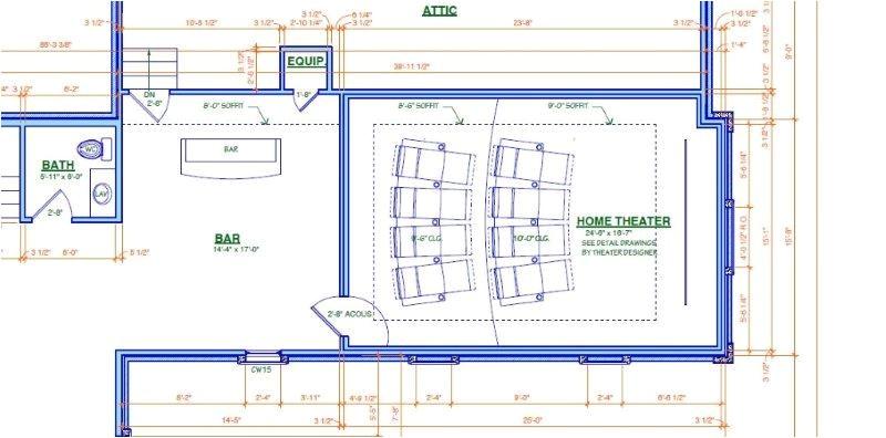 home theater room floor plan