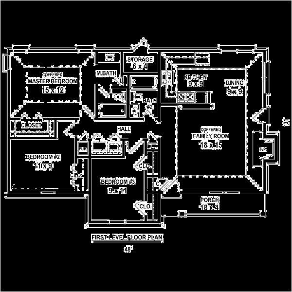 3 bedroom house plans no garage