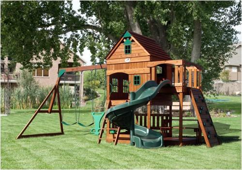 free diy playhouse backyard playground plans
