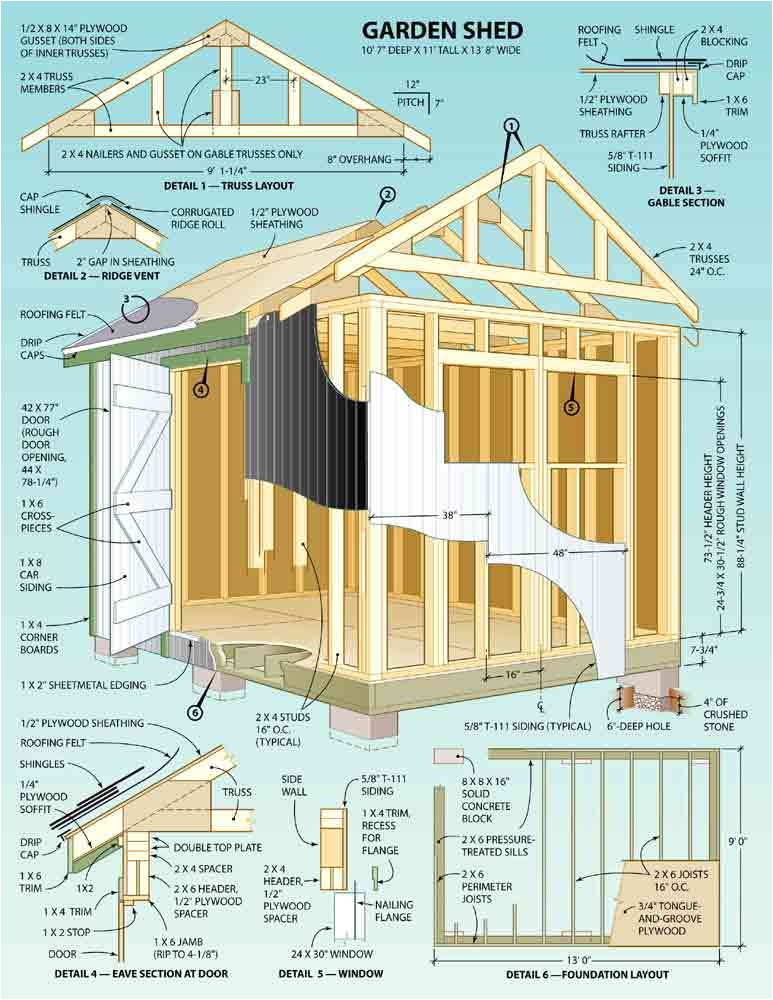 shed plan designs building a wooden storage shed