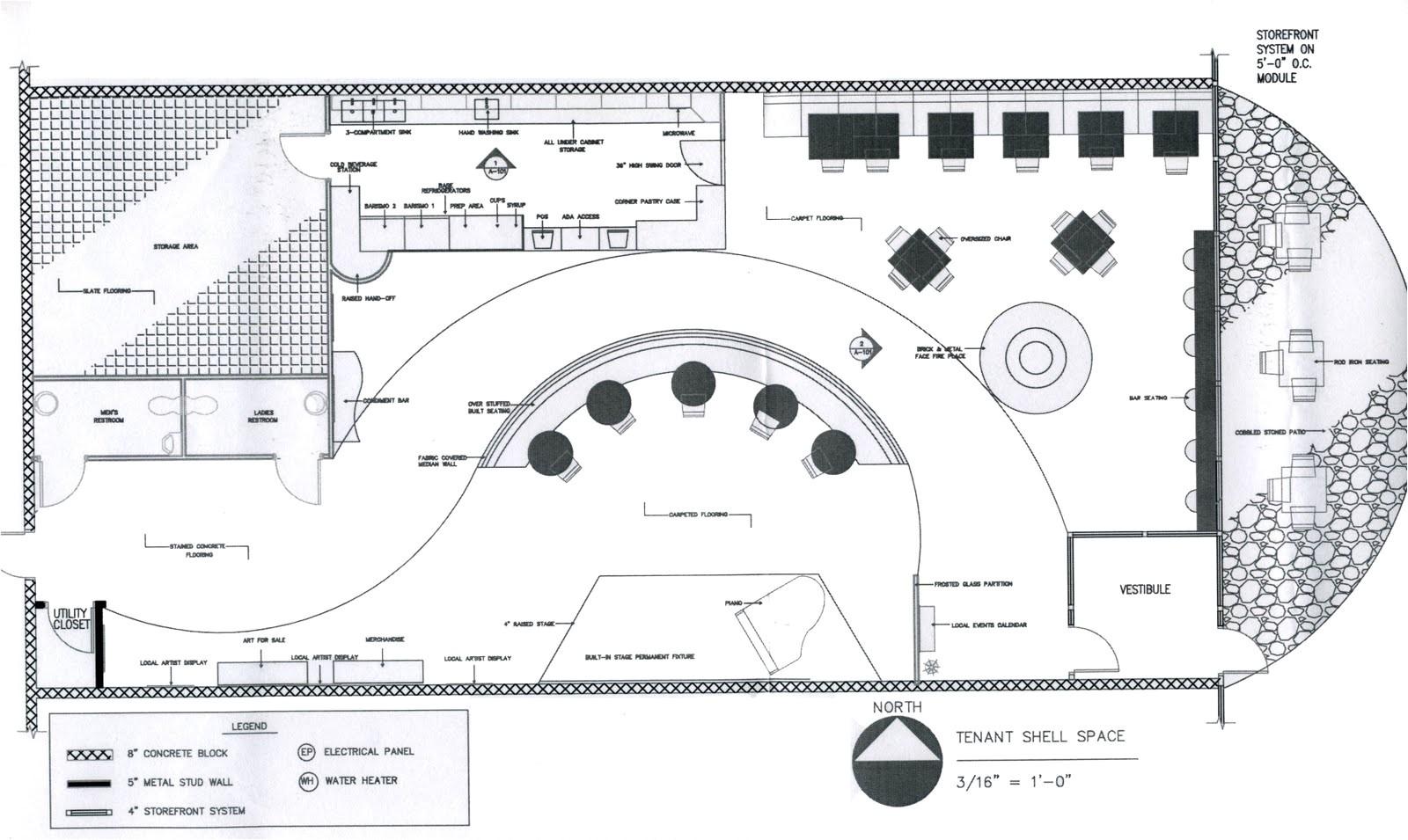 coffee shop floor plan layout