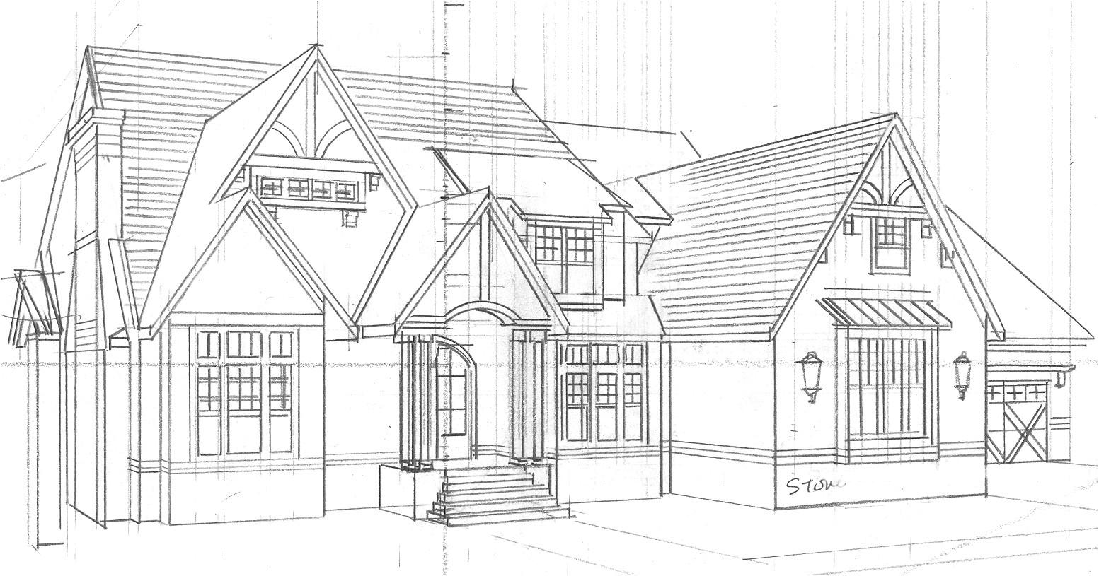 sketch home designs