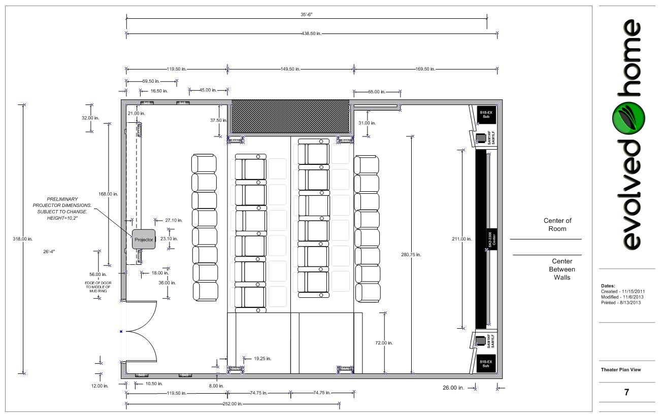home theater floor plan