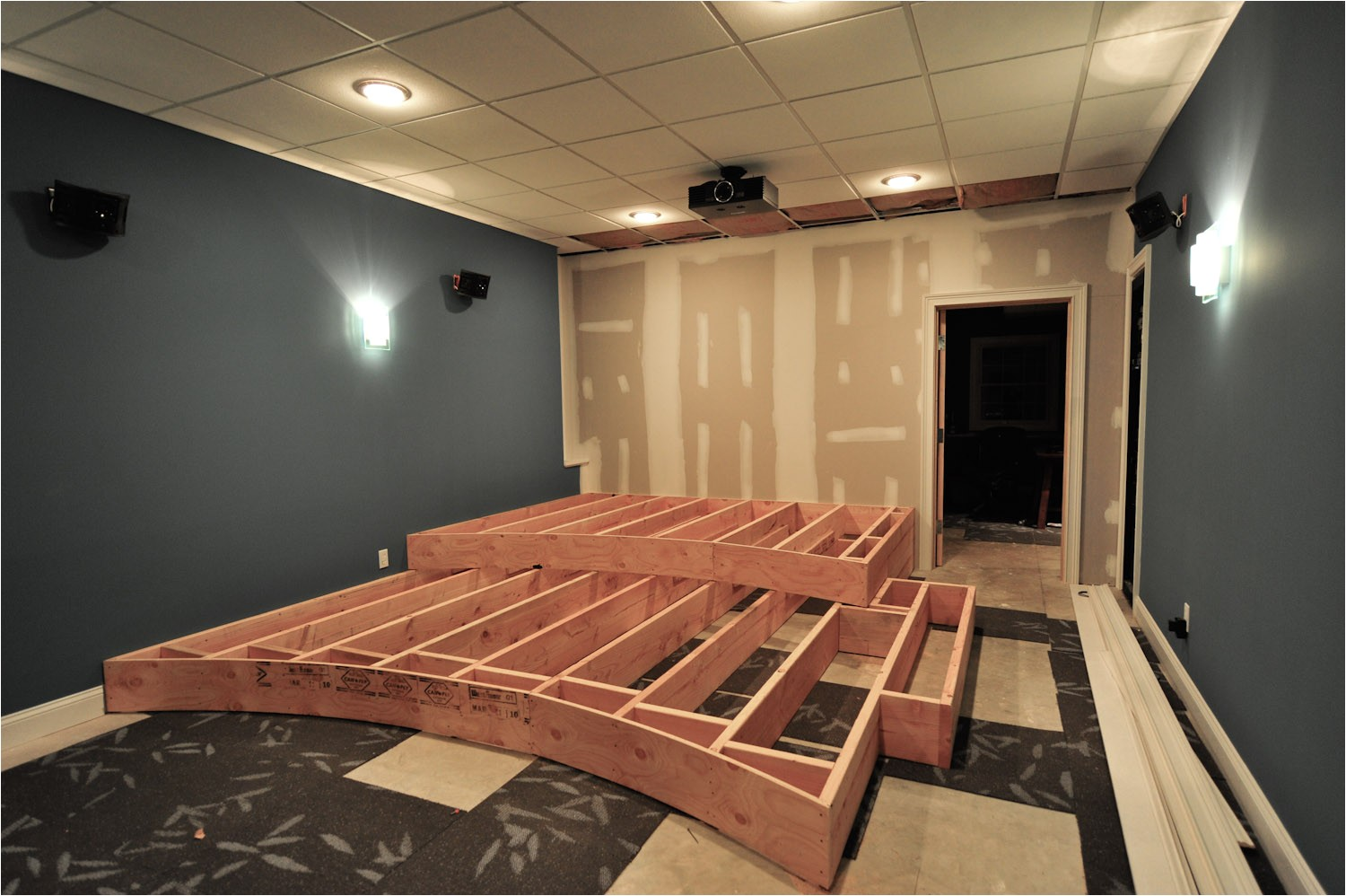 home theater riser design