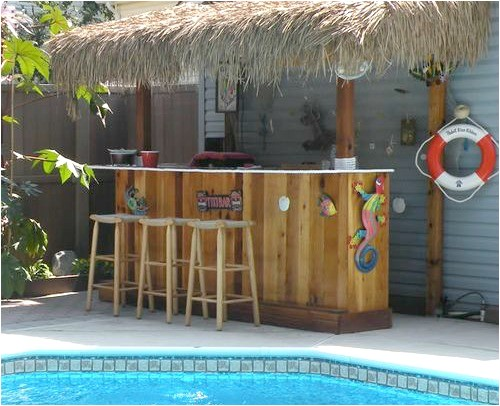 Home Tiki Bar Plans Beach Tiki Bar Ideas for the Home Backyard Coastal