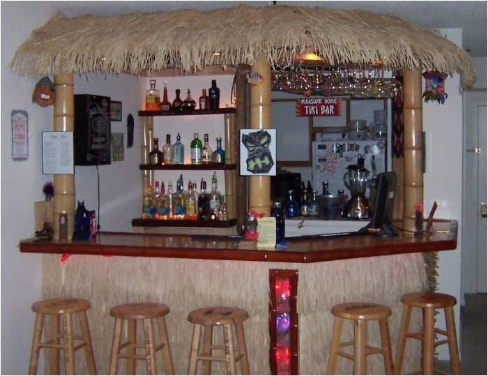 Home Tiki Bar Plans Delightful Ideas for Making Cool Home Bar Ideas