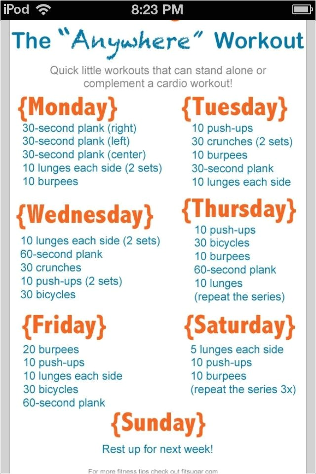 Home Work Out Plans Go after Your Goal to Exercise More Here 39 S How Weekly