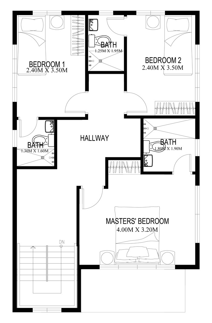 Homes and Floor Plans Two Story House Plans Series PHP 2014004