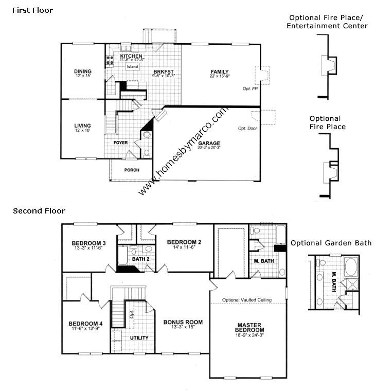 homes by marco floor plans