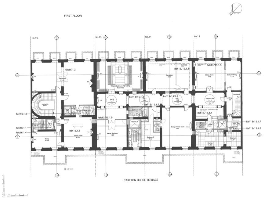 floor plans to 13 16 carlton house terrace in london england