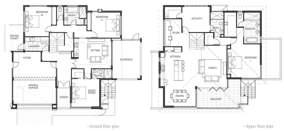 floor plan friday 2 story home with a view