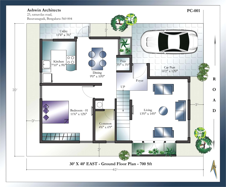 20 x 60 duplex house plans