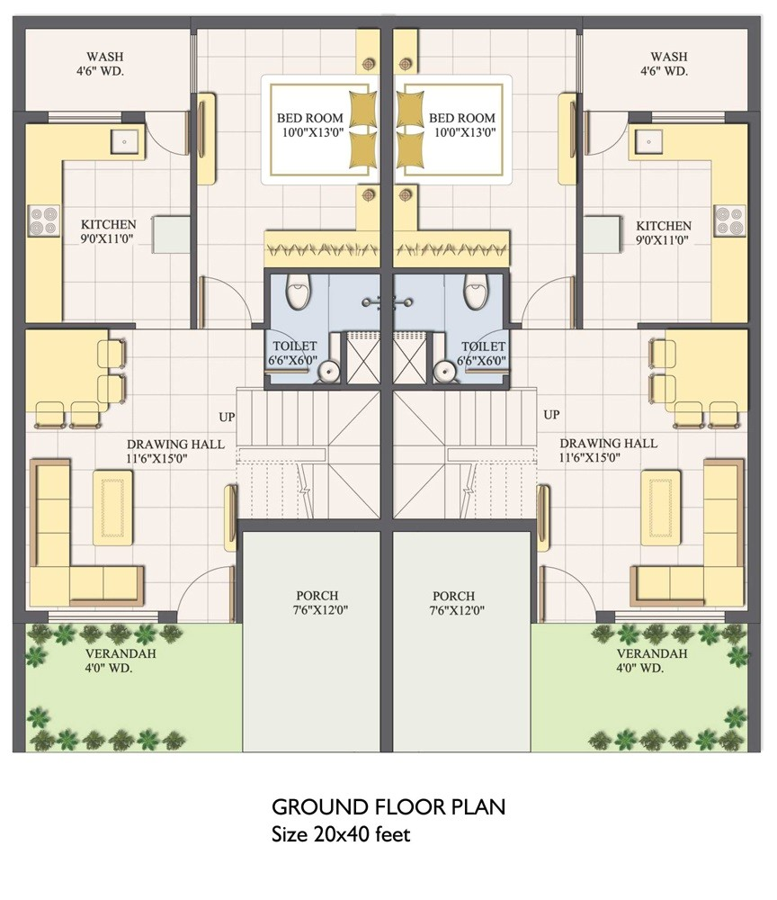House Plan for 20×40 Site 20×40 House Plans Small Pool Home Deco Plans