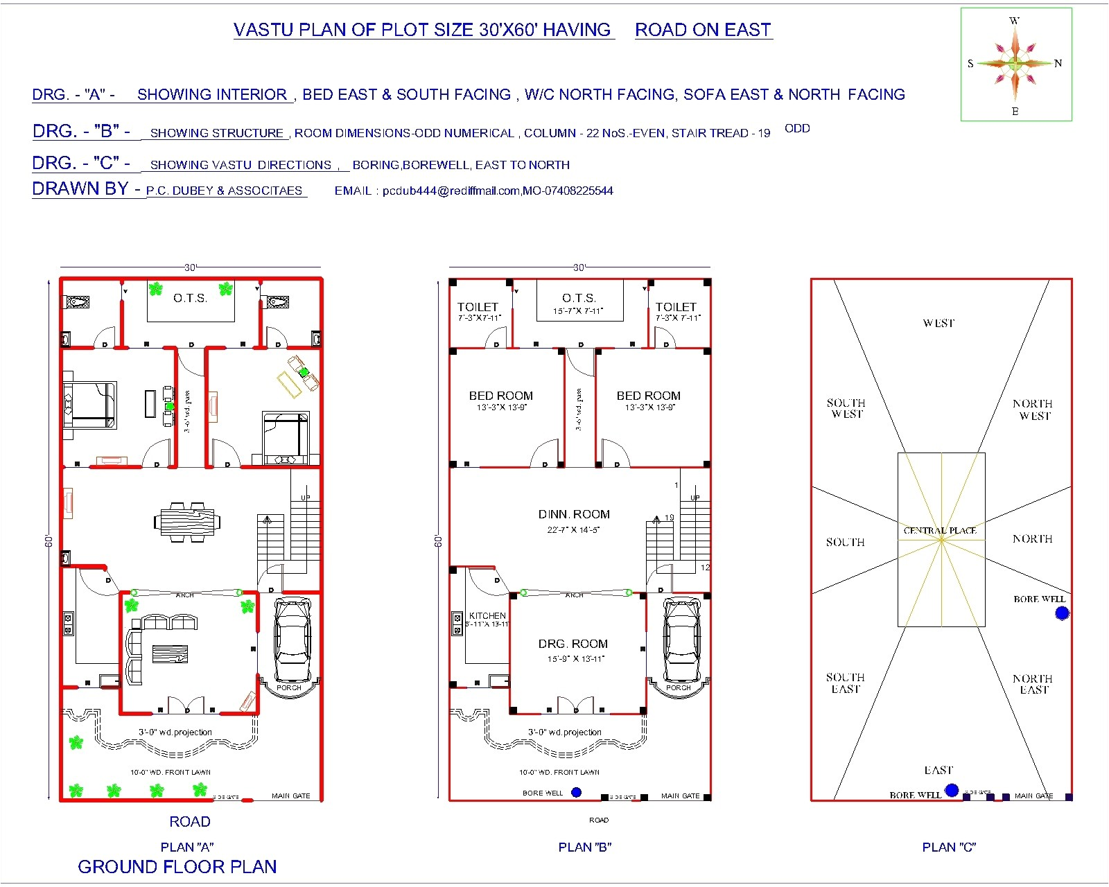 30 x east facing house plans
