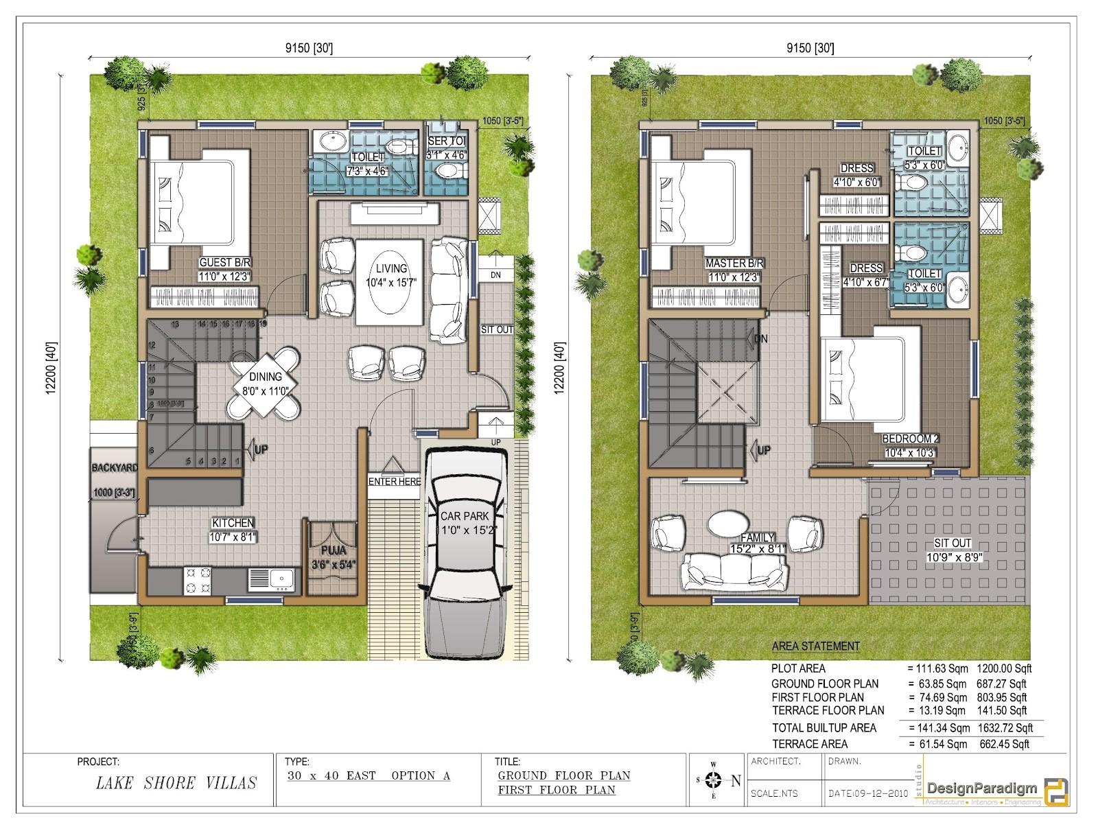 floor plan for 30x40 site e5ba9