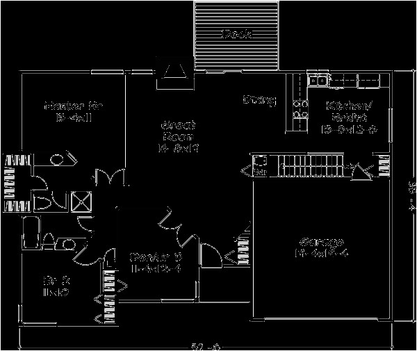 1400 square feet 2 bedrooms 2 bathroom traditional house plans 2 garage 30817