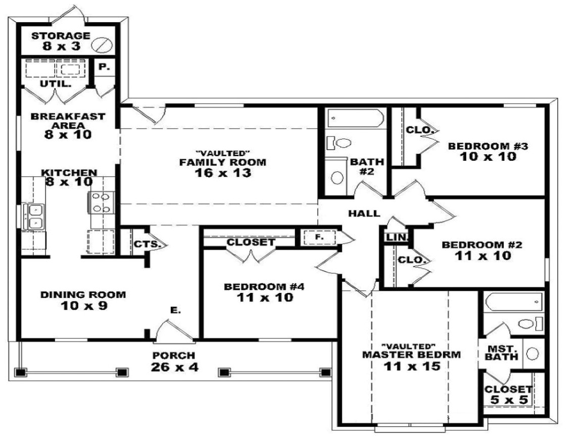 e1b1fac9fb0c1003 2 bedroom one story homes 4 bedroom 2 story house floor plans