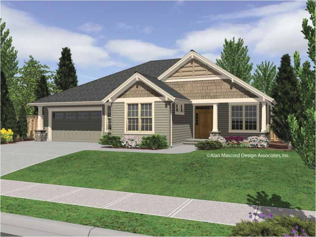 House Plans for 1 Story Homes Rustic Single Story Homes Single Story Craftsman Home