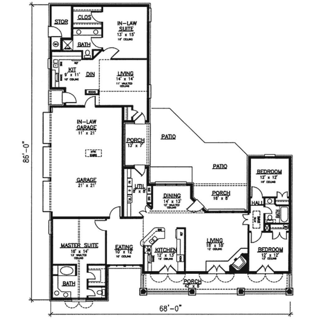 2400 square feet 4 bedrooms 3 bathroom southern house plans 3 garage 24792