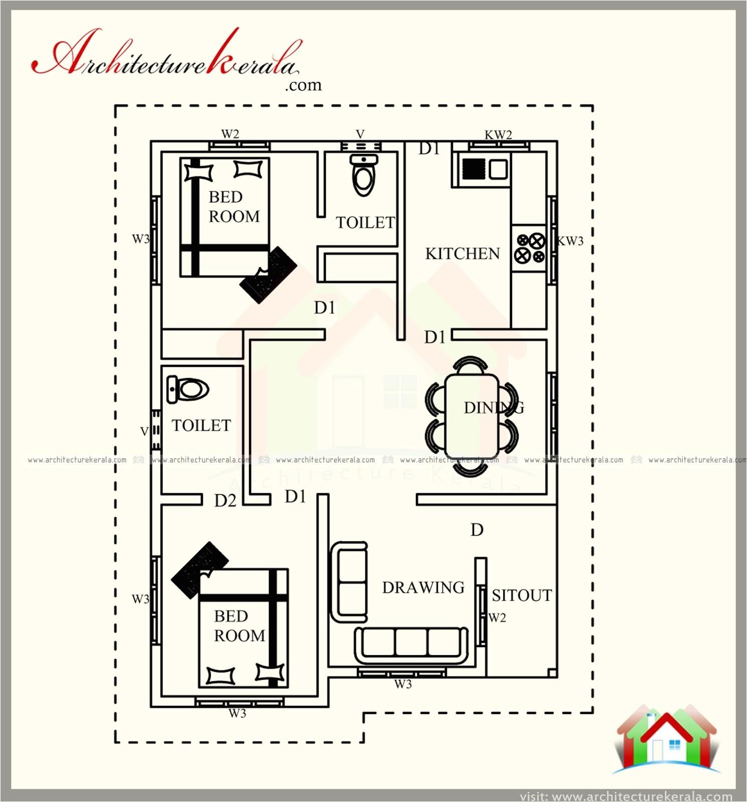 700 square feet kerala style house plan