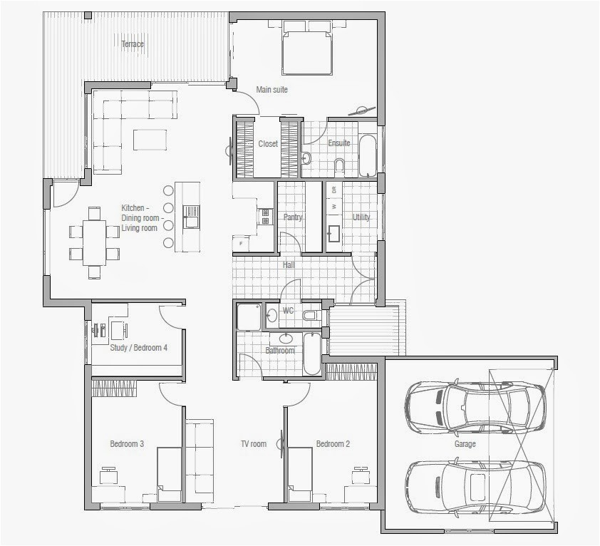 House Plans for Affordable Homes Affordable Home Plans Affordable Home Plan Ch70