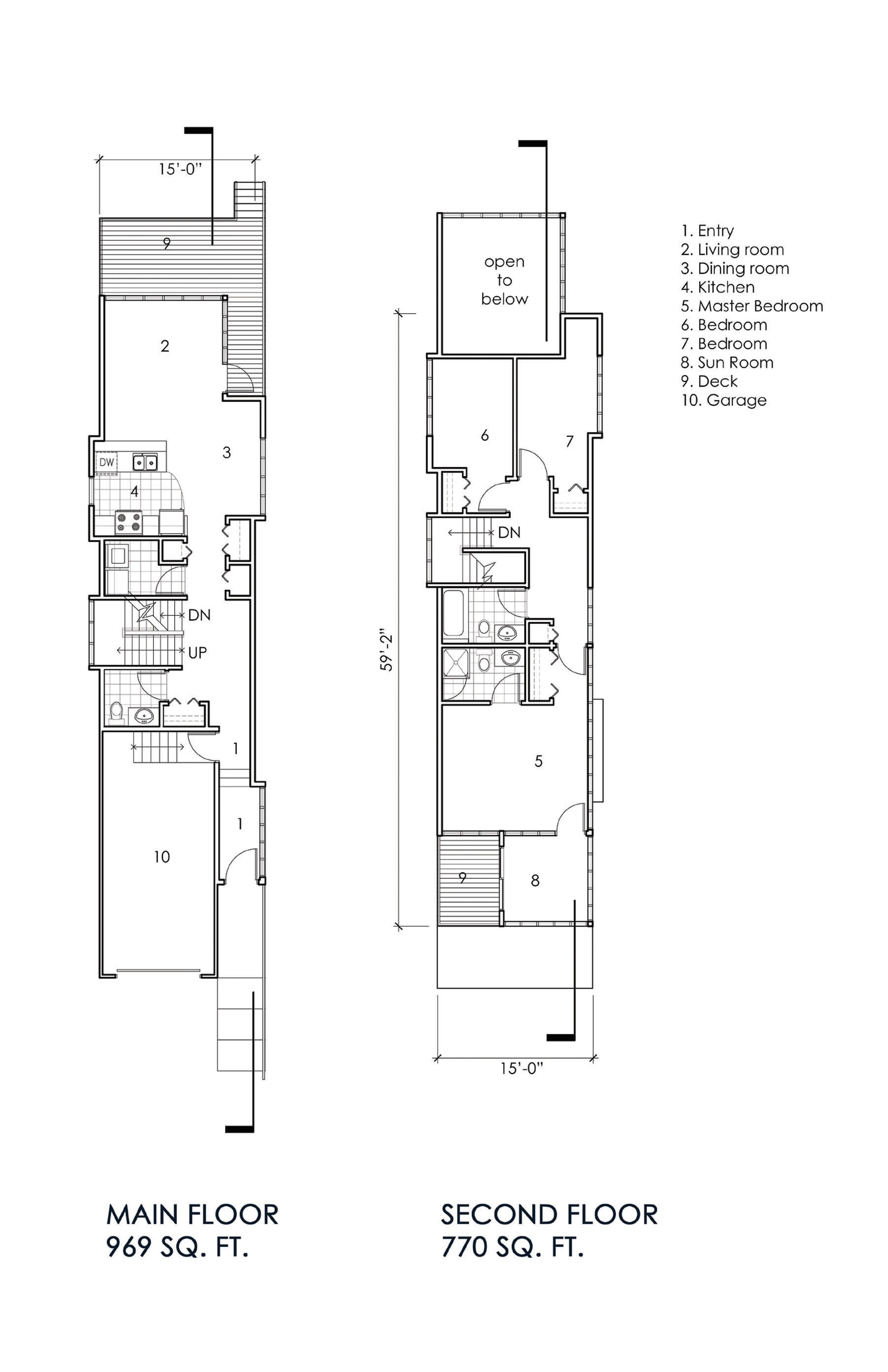 house plans for narrow city lots