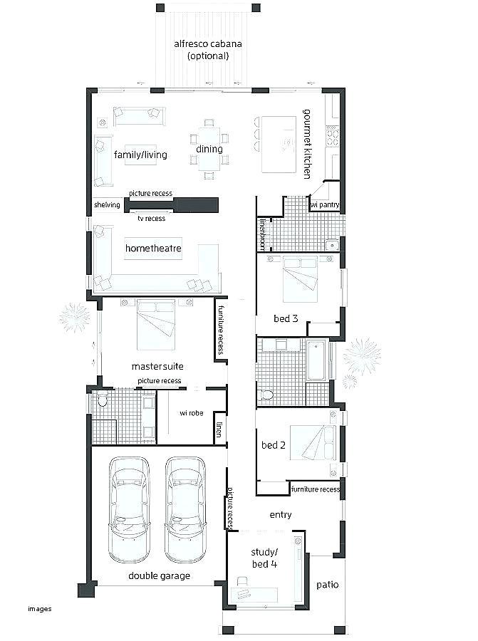 modern narrow house plans