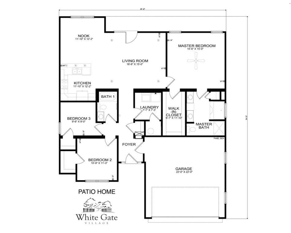 floorplans within patio home plans thehomelystuff intended for patio home floor plans free