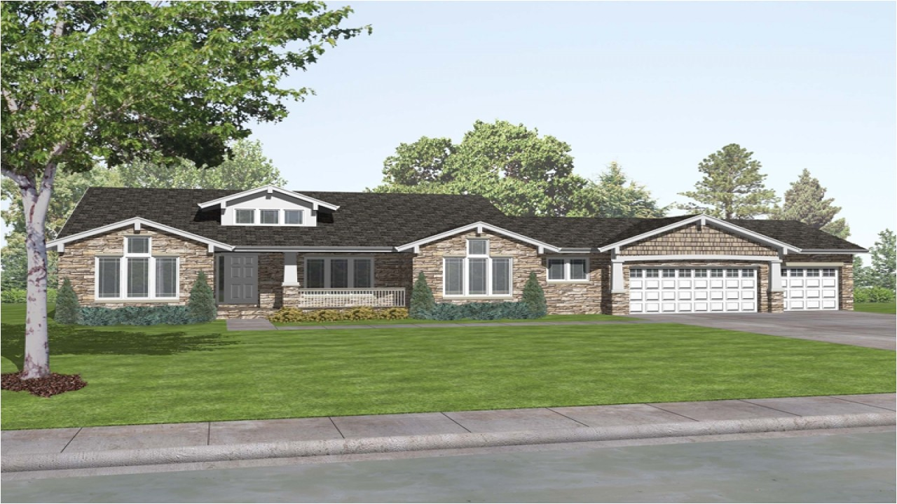 House Plans for Ranch Style Home Craftsman Style Ranch House Plans Rustic Craftsman Ranch