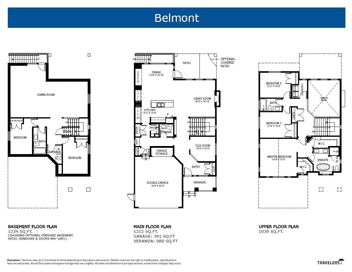 single family home floor plans