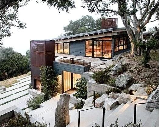 modern house plans for sloped lots fresh 29 best steep slope house plans images on pinterest