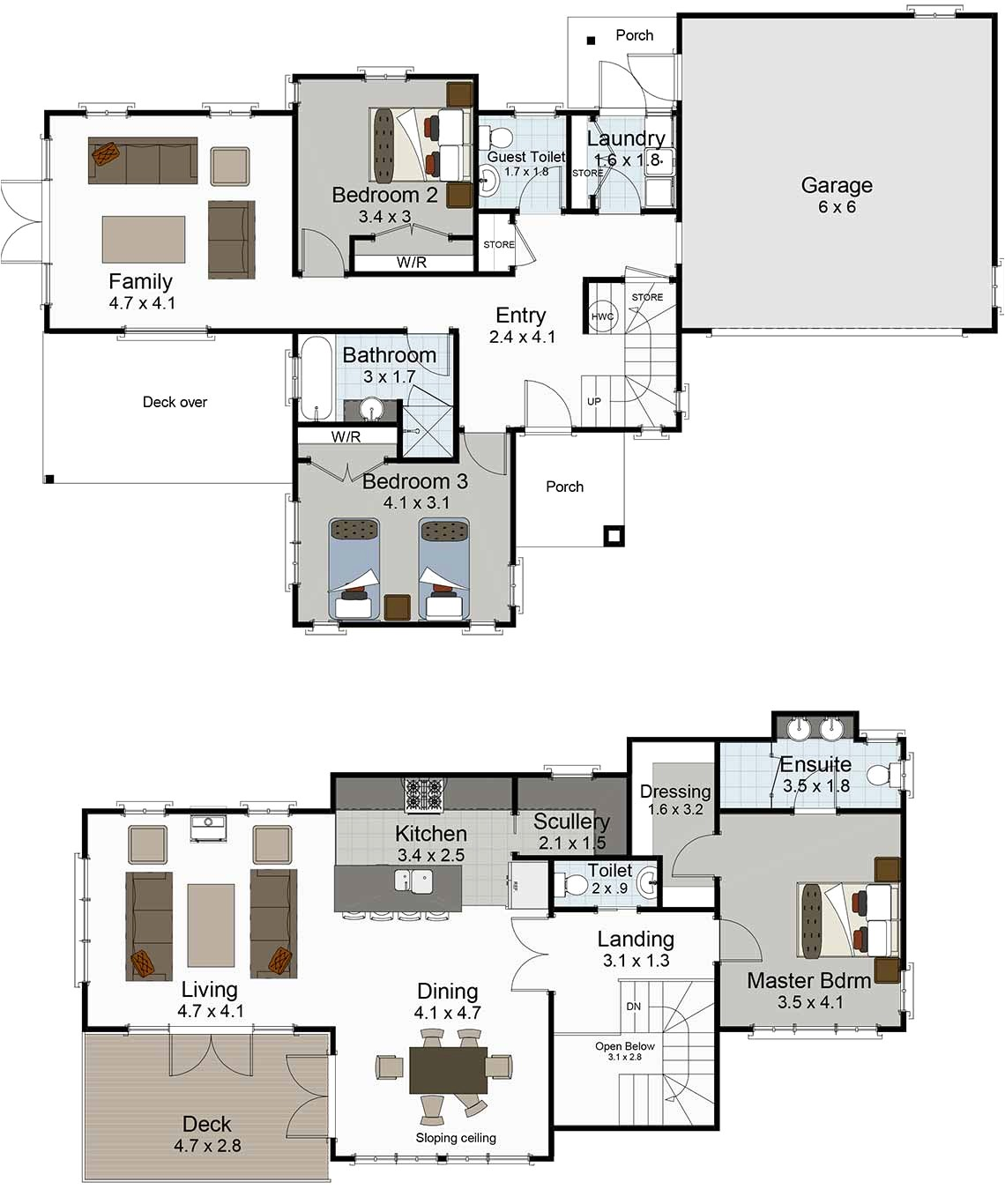 small 2 story house plans nz