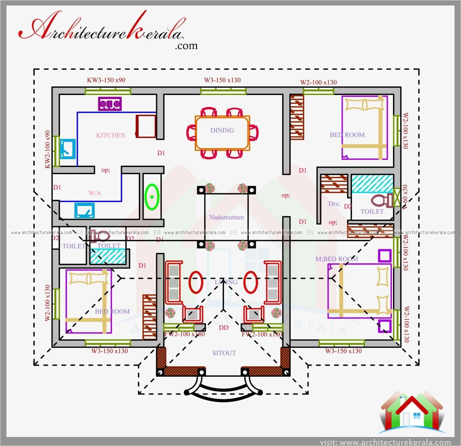 house plans for 1200 square feet india