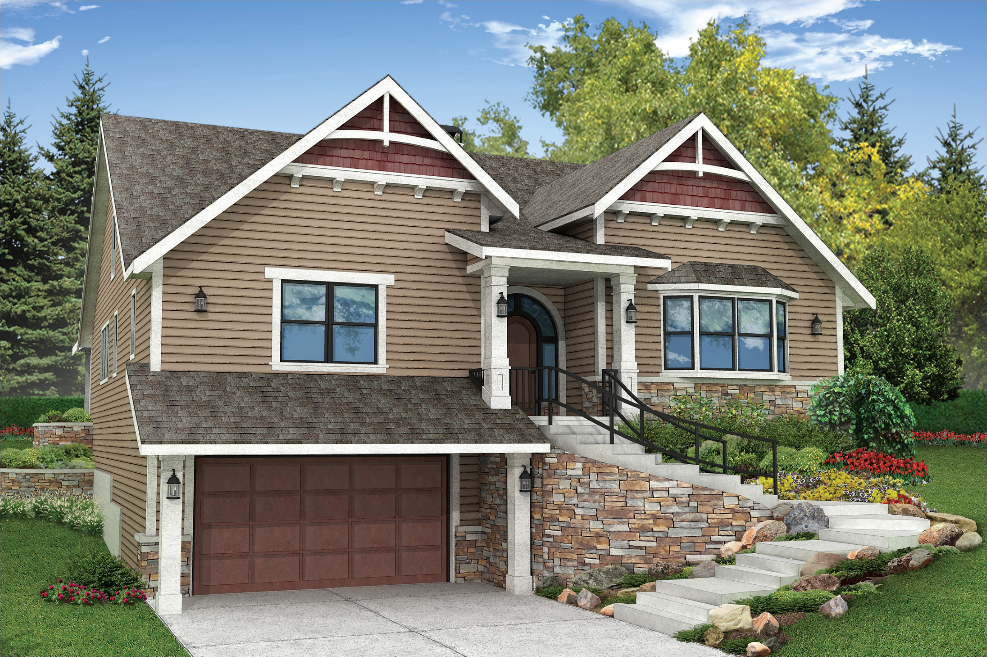 amazing house plans for sloping lots 2 front sloped lot house plans