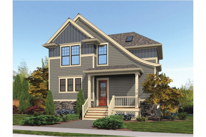 house plans for a sloped narrow lot