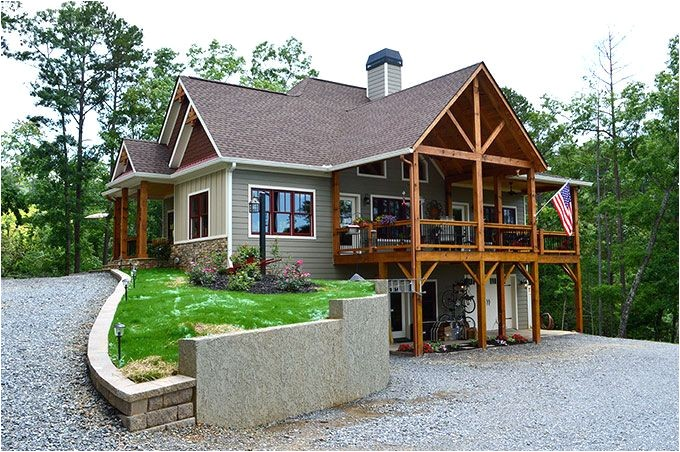 sloping lot house plans craftsman