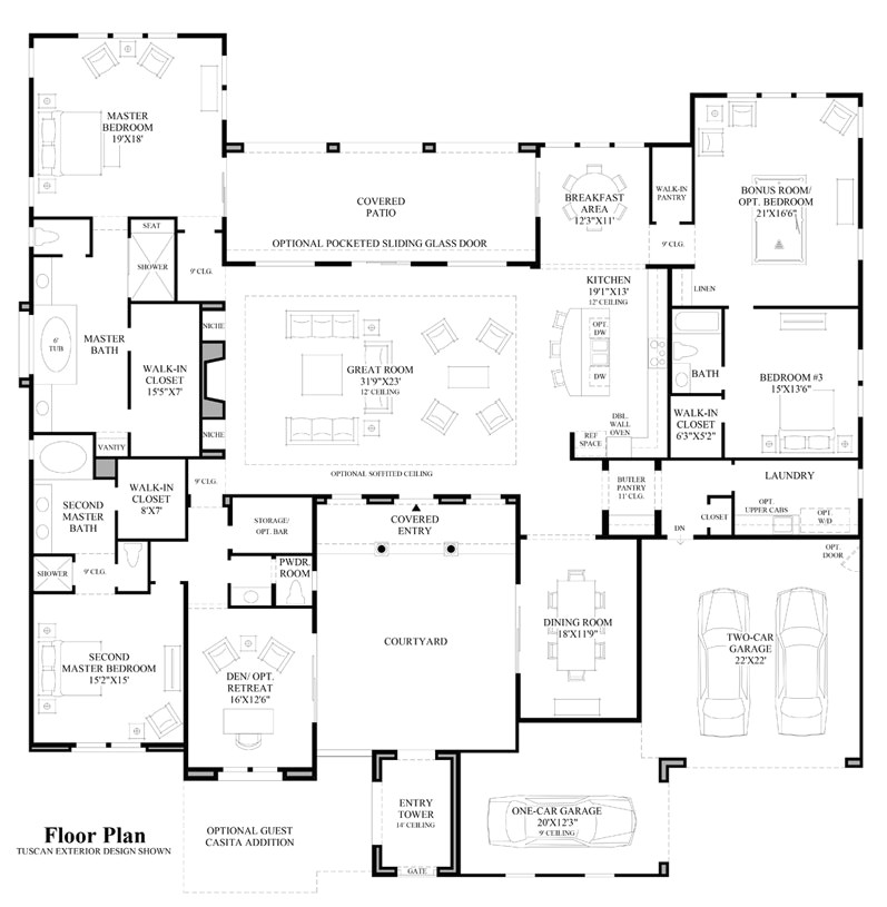 house plans 20000 square feet