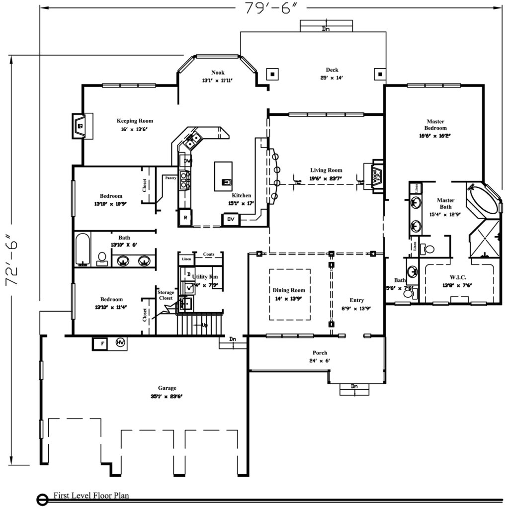 1400 square feet 1 story house plans