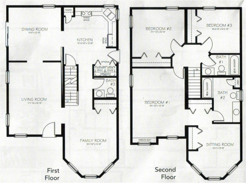 4 bedroom 2 storey house plans