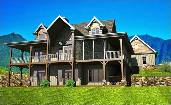 2 story house plans with walkout basement fresh open floor plan with wrap around porch