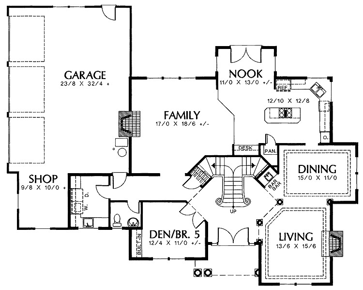 two staircase house plans