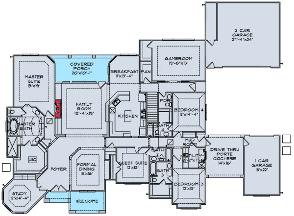 House Plans with Home theater Home theater Design Blueprints